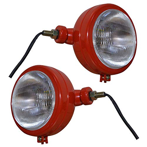 BAJATO Tractor Red Headlights Assembly Set For Case IH Tractor Claas Tractor...