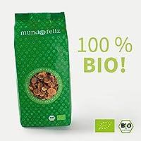 Mundo Feliz - Orejones de albaricoque ecológicos secos sin hueso, 2 bolsas de 500g