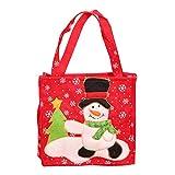 WEDFTGF Papá Noel muñeco de nieve diseño clásico para árbol de Navidad, bolsas de regalo para niños