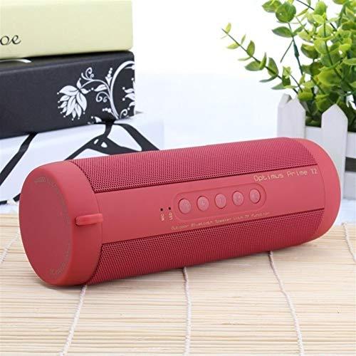 XFSE Red Bluetooth Musik-Subwoofer wasserdichte bewegliche im Freien LED drahtlosen Säulenlautsprechern TF-Karte FM-Radio AUX-Eingang