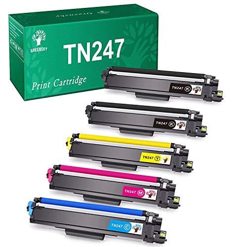 GREENSKY Cartuccia di Toner Compatibile Ricambio per Brother TN247 TN243 per HL-L3210CW HL-L3230CDW HL-L3270CDW MFC-L3710CW MFC-L3730CDN MFC-L3750CDW MFC-L3770CDW DCP-L3510CDW DCP-L3550CDW(5 Pacco)