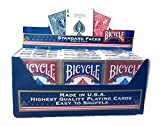 Bicycle Lot de 12 planches de vélo standard bleu et rouge par US Playing Cards Company - Version Anglaise