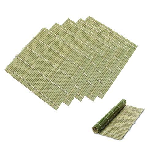 JapanBargain 3987, Set of 6 Bamboo Sushi Rolling Mats Sushi Roller Maker Kit , 9-1/2 Inches