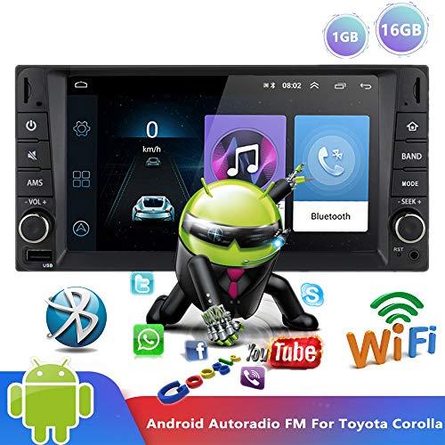 PolarLander Android 9.0 Bluetooth AutoRadio 7' Reproductor Multimedia Auto Radio Reproductor de Video estéreo WiFi Navegación GPS MP5 MirrorLink FM para To/yota Corolla