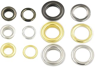 Amanaote 25mm Internal Hole Diameter Golden Eyelets Grommets with Washer Self Backing Pack of 20 Sets