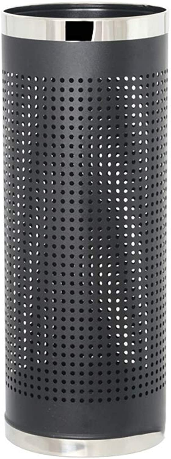 ZH1 Umbrella Stands Black Umbrella Stand Metal Umbrella Holder Rack, Free Standing,Tubular Metal Perforated, 22 L