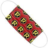 Batman Robin R Logo Pattern 1-Ply Reusable Face Mask Covering, Unisex