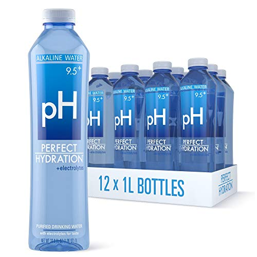 Perfect Hydration 9.5+ pH Electrolyte Enhanced Drinking Water, 1 Liter, 12 Bottles