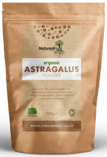 Natures Root Organic Astragalus Root Powder 500g - Boost Vitality | Promotes Healing | Reduces Fatigue | Helps Digestion