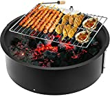 AINY 45'Metall Feuer Grube Outdoor Backyard Patio Gartenofen Bacher Für Camping Picknick Bonfire...