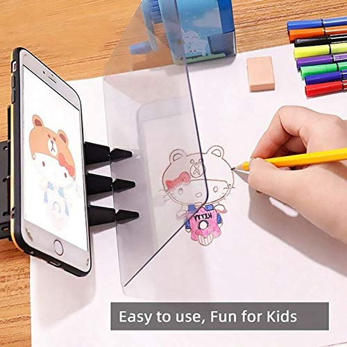 AEVEN✿ New Painting Copying Drawing Board - Optical Image Drawing Board Sketch Reflection Dimming Bracket Painting Mirror Plate - Easy to Paint Sketch Assistant - Drawing Aid for Kids Beginners