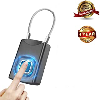 Fingerprint Padlock,Smart Ultra-Sensitive Portable Keyless Biometric Lock, Anti-Theft Ultra Light Metal Structure Thumbprint Padlock USB Charging for House Door,Backpack,Luggage Suitcase,Bike