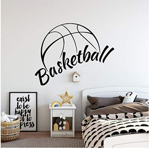 Basketball muurtattoo's mand sport jongen slaapkamer basketbalhal binnen kunst sticker vinyl muursticker Home Decor Ball 42x33cm