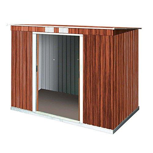Abschließbares Gerätehaus Pent Roof Größe: 186 cm H x 263 cm B x 124 cm T, Farbe: Holzoptik