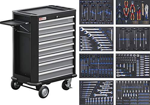 BGS 4050 | Werkstattwagen | mit 296 Werkzeugen | 8 Schubladen | gefüllt | abschließbar | massives Metall