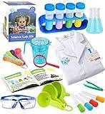 UNGLINGA Wissenschaft Experimentierkästen für Kinder - Laborkittel Wissenschaftlerin Anziehen und Rollenspiel Spielzeug Geschenk für Jungen Mädchen Kinder im Alter von 5 - 11 Jahren