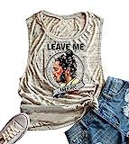 Anbech Womens Leave Me Mlone Racerback Tank Gym Tank Music Summer Sleeveless Shirts (XL, As Show)