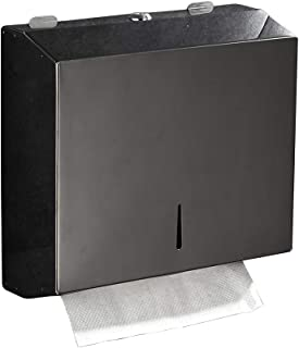 C-Fold Paper Towel Dispenser - Black Glossy Wall Mounted Stainless Steel Multifold Paper Towel Holder Commercial For Office bathroom