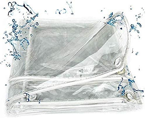 WQUANB Lona Impermeable Resistente con Ojales, Resistente, Resistente al Polvo, Resistente a la Lluvia, Lona Transparente de PVC, Cubierta de jardín de Invernadero de 0,3 mm, para Plantas, Barrera