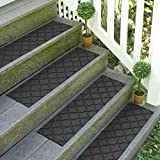 Bungalow Flooring Waterhog Stair Treads, Set of 4, 8-1/2 x 30 inches, Made in USA, Durable and...