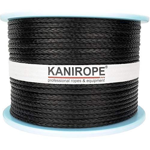 Kanirope® Dyneema Seil PRO 3mm 100m Schwarz 12-fach geflochten SK78 verstreckt beschichtet