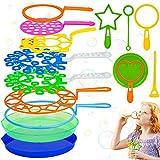 Varita de Burbuja, 15 pcs Juego de Pompas de Jabón, Maquina de Burbujas, Burbujas de Jabón Kit, Creativo Bubbles Maker para Niños, para Actividades al Aire Libre en Verano, Cumpleaños Infantiles