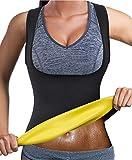 Bingrong Frauen Fitness figurformend Unterbrust Bauchweg Schwitzeffekt, Schwarz ,L