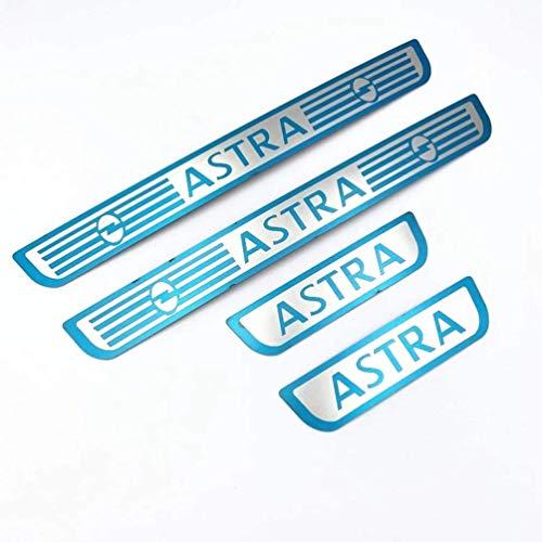 4 Piezas de Acero Inoxidable molduras de umbral de Puerta para Opel Astra Corsa Adam 2016-2020, Ajuste del umbral del Pedal de Desgaste Placa de protección Accesorios