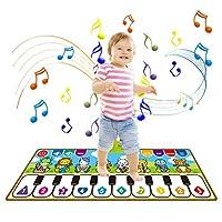 Raten 音楽マット プレイマット ピアノマット ピアノミュージックマット 折り畳み 滑り止め 10鍵 デモモード 触感ゲーム お誕生日 防水 プレイマット クッションマット プレゼンン 人気子供 室内遊び道具
