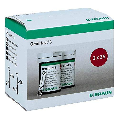 OMNITEST 5 Blutzucker Teststreifen 2X25 St