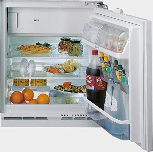 Bauknecht KSU 8GF2 Unterbau-Kühlschrank mit Gefrierfach (Nische 82) / Gesamtnutzinhalt: 126 Liter/Abtauautomatik im Kühlteil/Sensor-Technologie/LED- Licht im Kühlraum/Einfache Festtürmontage SUP