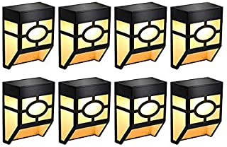ZKS-KS Solar Fence Lights,Outdoor Waterproof Solar LED Wall Lights for Deck, Fence,Landscape, Steps, Stairs, Patio, Yard, ...