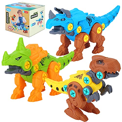 Niskite Kids Toys Stem Dinosaur Toy: Take Apart Building Dinosaur Toys for Kids 5-7| Learning Educational Construction Toys for 3 4 5 6 Year Old Boys| Birthday Gifts for Boys Girls Age 3-8