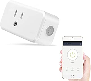 Smart Home Mini Smart Plug by Wasserstein Compatible with Alexa, Wi-fi control all your Devices Wherever you are No expensive hub required, Simple Plug & Play Socket (1 Pack)