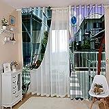 WAFJJ Cortinas Dormitorio Moderno Chica Blanca Blackout Curtain Cortina Opaca Suave para Ventanas de Habitación Juvenil con Ojales Estar Niño Tamaño:2x75x166cm(An x Al)