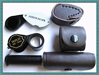 Ade Advanced Optics Bundle: Chelsea Filter, Dichroscope, Jewelers Hasting 10x Loupe. GIA Tools (Pack of 3)