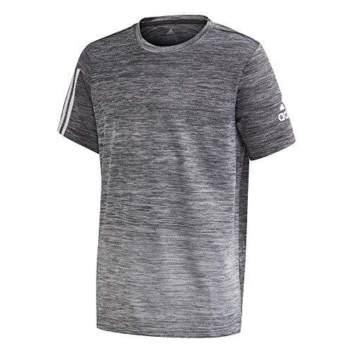 adidas Jungen YB TR Grad Tee T-Shirt, Negro/Blanco, 152 (11/12 años)