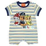 Baby Strampler Paw Patrol Baby Spieler Kurzarm Junge dunkel Blau gestreift Schlafanzug Top Kleidung Spiel-Anzug-Baby, Größe: 80(12M)