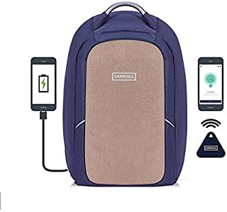Carriall Columbus Smart Anti Theft Laptop Backpack with Bluetooth functionality (Beige)