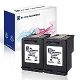 BJ - Cartuchos de tinta reciclados HP 304XL 304 XL de color negro y tricolor, compatibles con las impresoras HP DeskJet 3720 3730 3732 3735 2620 2630 HP Envy 5020 (2 negros)