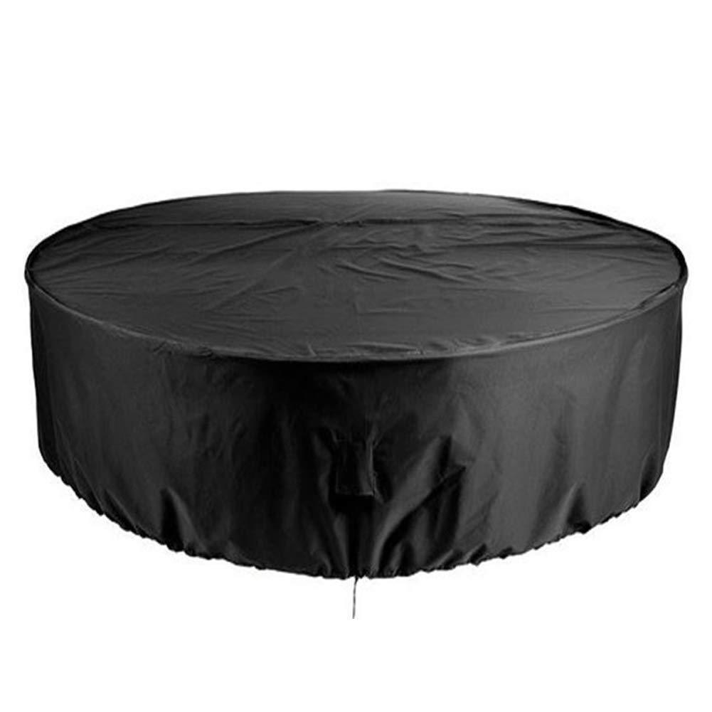 QPllRZZ Patio Exterior Cubiertas Mueble Impermeable Resistente UV Redondo Jardín Mesa Funda Transpirable Circular Mesa y Silla Refugio Funda - como Imagen Show, 230x110cm: Amazon.es: Jardín