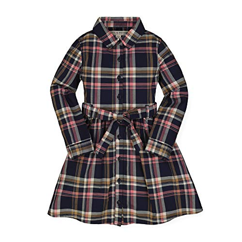 Hope & Henry Girls' Tie-Waist Shirtdress