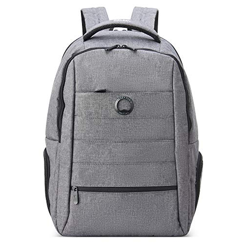 DELSEY Paris Voyager Laptop Backpack, Heather Grey, 15.6' Sleeve