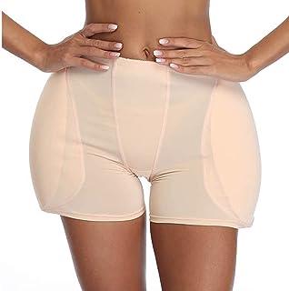 2 بطانة رفع المؤخرة للنساء، معزز الورك ملابس داخلية مبطنة، يمكن مطابقتها مع تنورة قصيرة وسروال منخفض الخصر (اللون: أسود، ا...