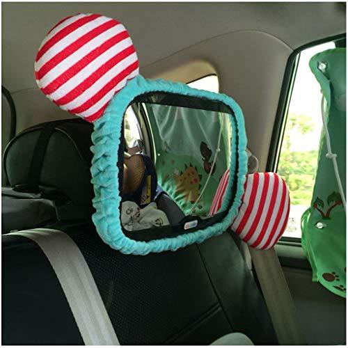 Asiento de seguridad - Espejo retrovisor interior - Espejo retrovisor para niños - Carro invertido para bebés y bebés - Espejo retrovisor (color : Azul)