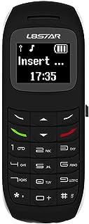 Unlocked Bluetooth Mini Mobile Phones-BM70 GSM Bluetooth Handset Phone Earphone Dialer Support Nano SIM Card 0.66inch(Black)