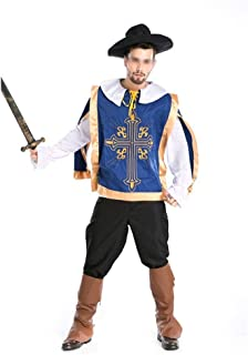 New Medieval Warrior Costume Halloween Role-Playing Party Dress Uniforms Male Gladiator (Color : A, Size : One Size)