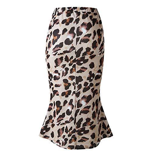 Makalon Dames Lange avonddrok, luipaard patroon