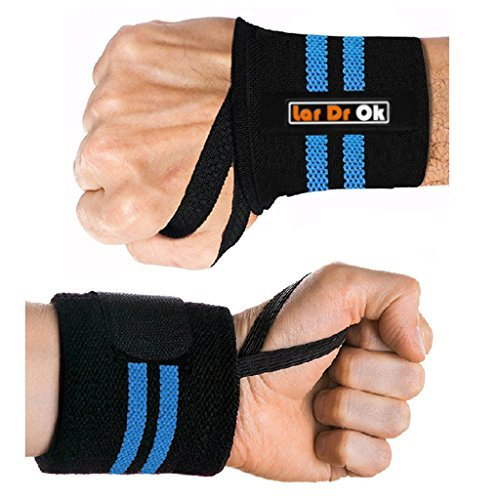 Lar DrOk Wrist wraps,wrist support with thumb loop, professional grade powerlift wrist brace - for h Xfit , Weight Lifting, Gym strength Training