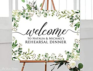 rehearsal dinner welcome signs